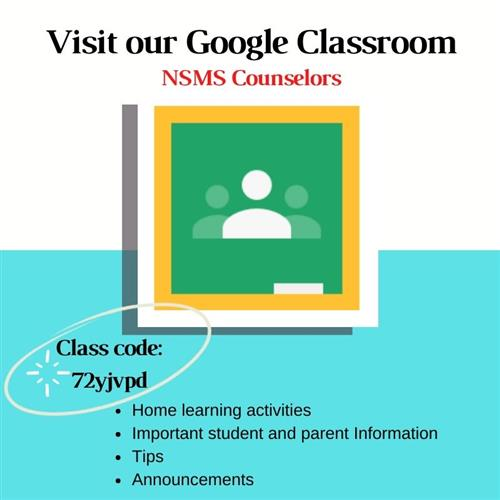 Google Classroom Code for Counselors
