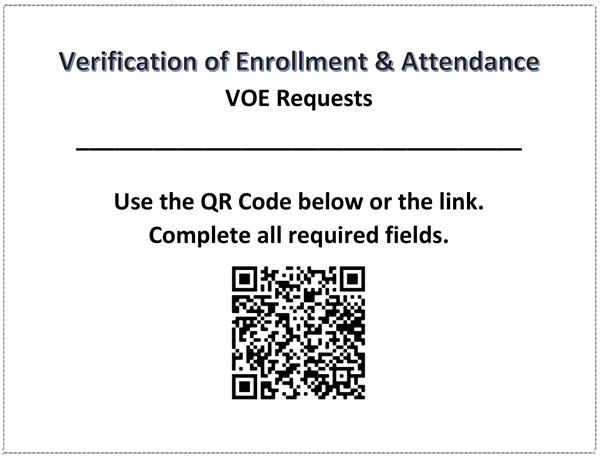 Verification of Enrollment and Attendance Form (VOE)