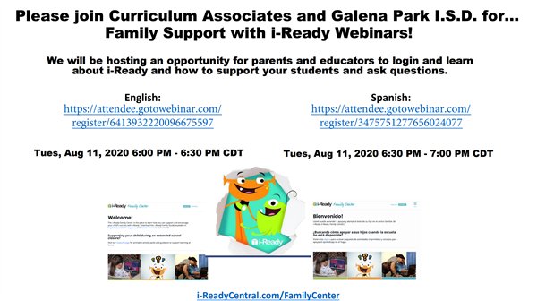 iReady Parent Invitation