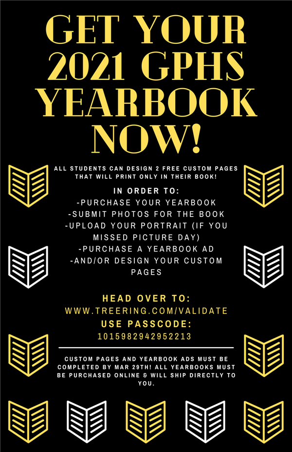 2020-21 GPHS Yearbooks Now On Sale