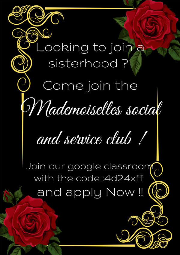 Interested in Joining Mademoiselles?