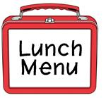 Lunch Menu, red lunch box
