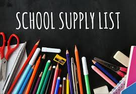 2019 - 2020 School Supplies List