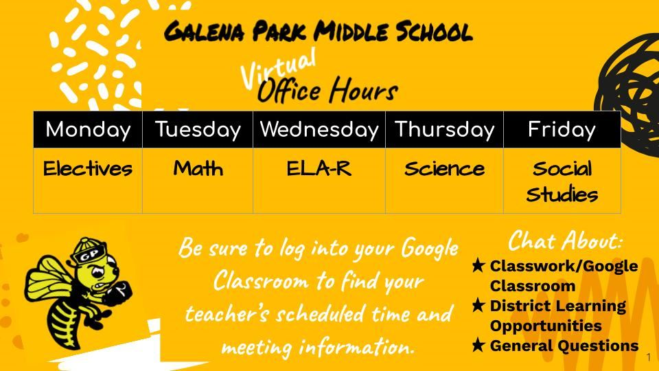 GPMS Virtual Office Hours