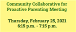 Proactive Parenting Meeting Thumbnail Graphic