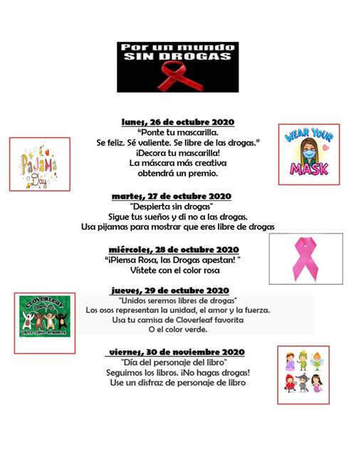 Red Ribbon Week Spanish
